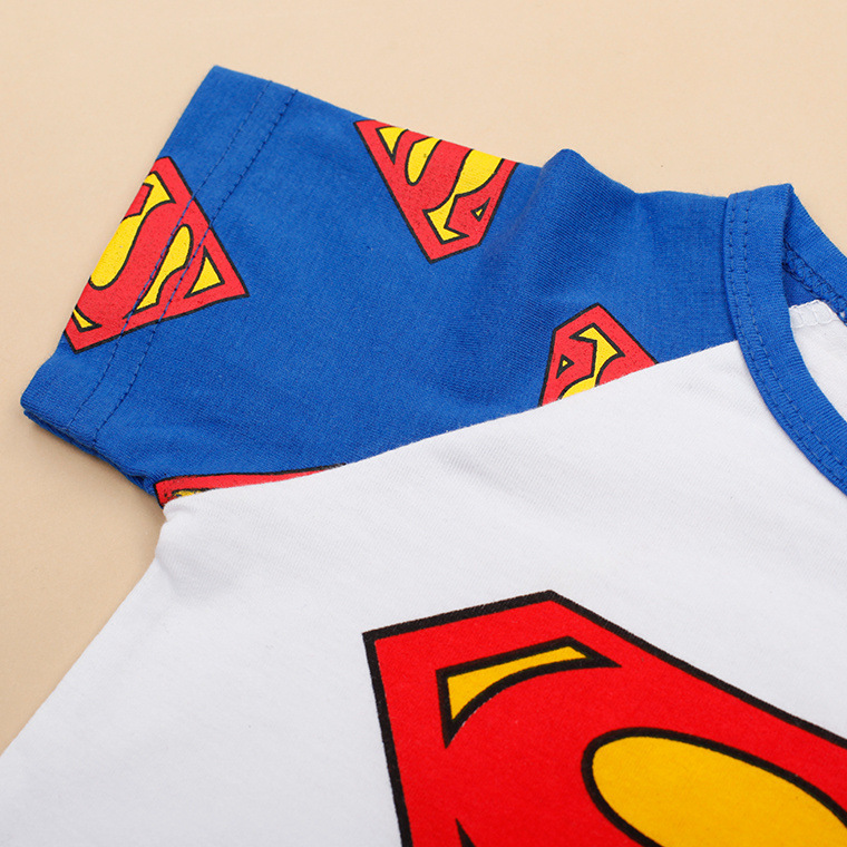 Summer Newborn Baby Clothing Cotton Short Sleeve Baby Boy Clothes Roupas Bebe Patchwork Super Hero Style Baby Romper