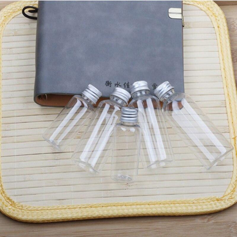 1 pc Transparent Aluminum Cap Bottle Ordinary Plastic Screw Lotion