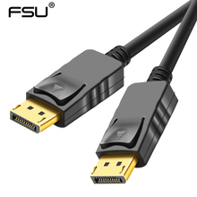 Displayport кабель HD 1080 P 4 к высокое Скорость DP мужчин и женщин кабель адаптера DP Для HDTV проектор ноутбука Displayport 1,8 м 3 5