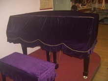 1SET 3 Colors New Europe Style Gold Velvet Grand Piano Cover with Stool Cover Hanging Decorations  KQ 001