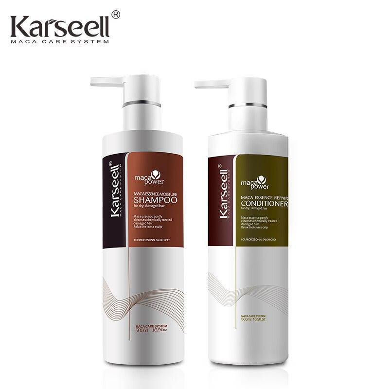 Kératine Shampooing Revitalisant Huile D'argan De Soins Capillaires Cheveux Masque Traitement Karseell Cuir Chevelu Nourrir Réparer les Cheveux Secs Karseell 500mlx2