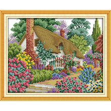 Everlasting love Midsummer hut Chinese cross stitch kits  Ecological cotton counted stamped 11CT 14 CT New store sales promotion