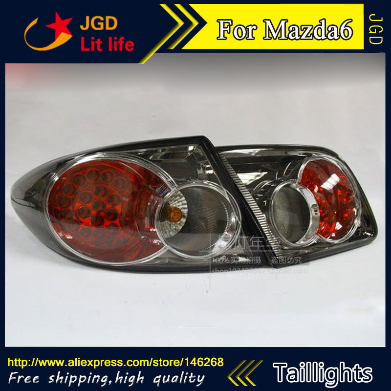 Car Styling tail lights for Mazda6 M6 Mazda 6 2003-2008 LED Tail Lamp rear trunk lamp cover drl+signal+brake+reverse car styling tail lights for kia forte led tail lamp rear trunk lamp cover drl signal brake reverse