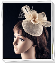 15 colors enchanting sinamay material fascinator base headpiece event hair accessories bridal hat suit for all season FNR151270