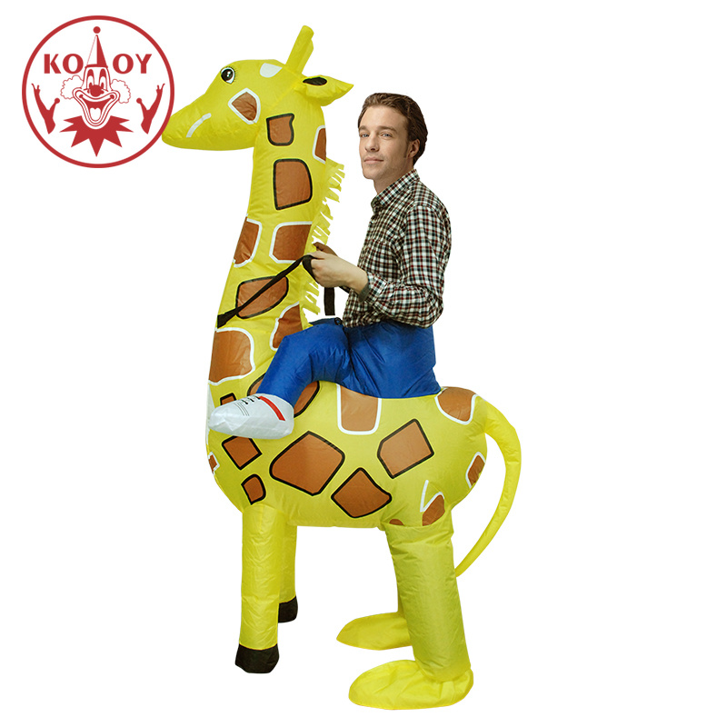 Adult Inflatable Giraffe Costume Halloween Costumes For Men Women Blow Up Animal Cosplay Fancy Party Dresses