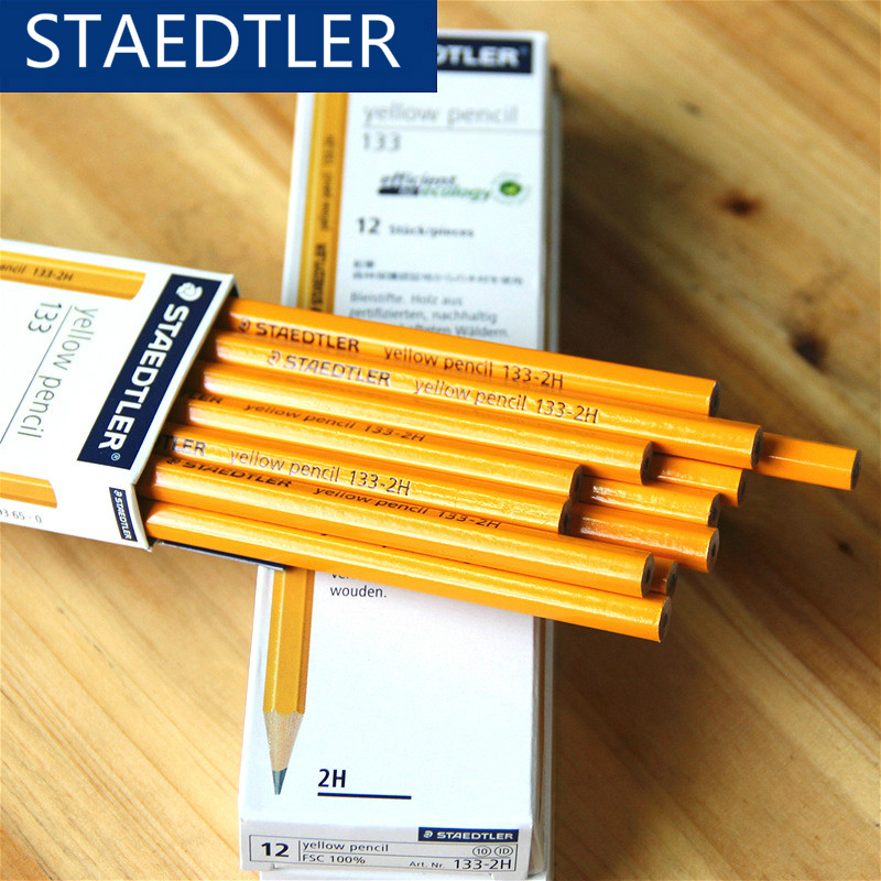 Germany STAEDTLER 133# hexagonal yellow standard pencil 2H/HB/2B 12pcs/box children writing pencil school office stationery Germany STAEDTLER 133# hexagonal yellow standard pencil 2H/HB/2B 12pcs/box children writing pencil school office stationery
