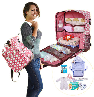 Discount! Free shipping Backpack fashion mother bag double-shoulder nappy bag multifunctional