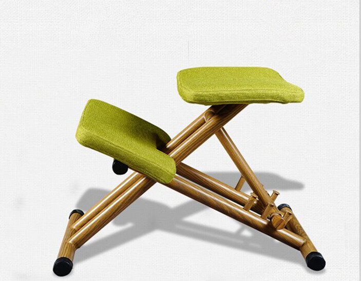 Ergonomically Designed Kneeling Chair Green Fabric Cushion Modern Office Computer Chair Ergonomic Posture Knee Chair  Design 240337 ergonomic chair quality pu wheel household office chair computer chair 3d thick cushion high breathable mesh