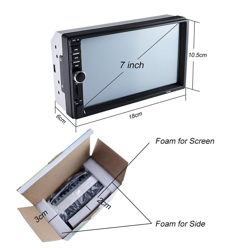 "Hipppcron Автомагнитола HD "" сенсорный экран стерео 2 Din Bluetooth FM ISO мощность SD USB Aux вход Mp5 плеер нет или с камерой"
