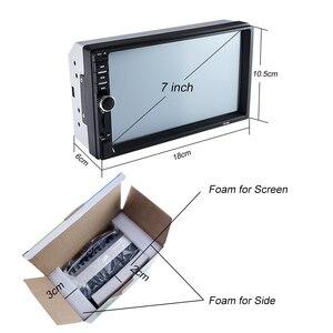 """Image 4 - Hippcron Radio samochodowe HD 7 """"ekran dotykowy Stereo 2 Din Bluetooth FM ISO zasilanie SD USB wejście Aux odtwarzacz Mp5 nie lub z kamerą"""