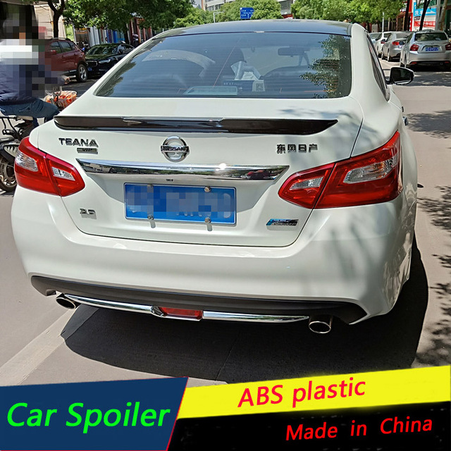 For Nissan Altima Spoiler Abs Material Car Rear Wing Primer Black Trunk 2016 2017 New Sport
