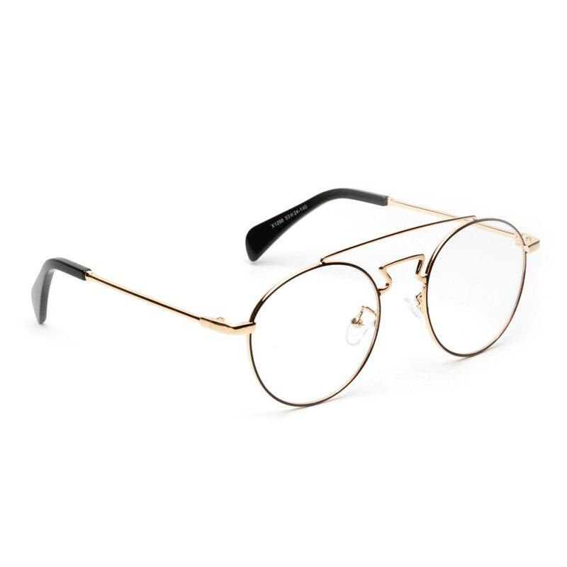 Chic Women Sunglasses Eyewear Brand Designer Round Frame Mirror Eyeglasses