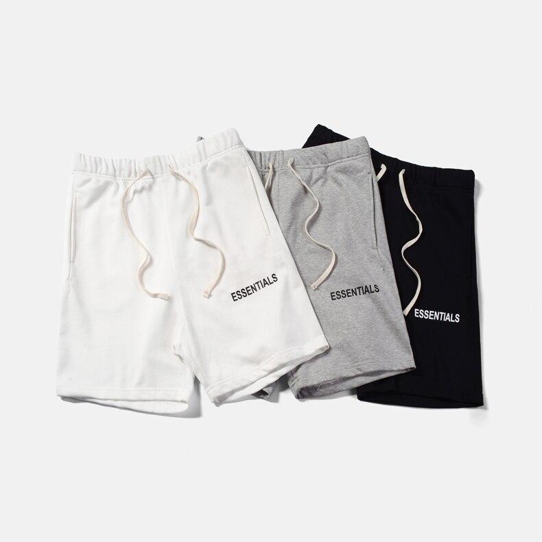 QoolXCWear Shorts hip hop Justin Bieber Streetwear essentiel Shorts de brouillard hommes/femmes Shorts noir/gris/blanc M-XL