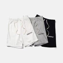 QoolXCWear short hip hop Justin Bieber, Streetwear, essentiel FOG, short pour hommes et femmes, noir, gris et blanc, collection M XL