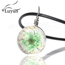 Luyun Fashion Necklace 2019 Crystal Jewelry Lace Daffodil Hemisphere Dried Flower Free Shopping
