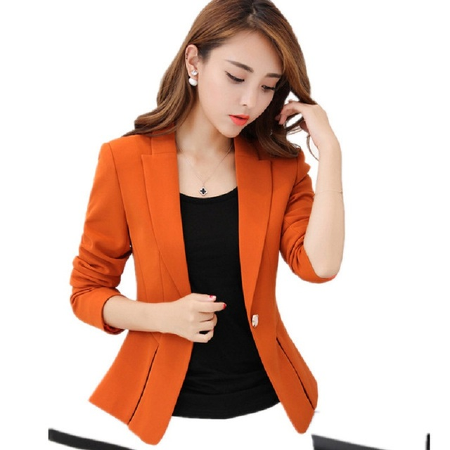 5f41c495ca3 2019 New Korean Style The Suit Wholesale Slim Blazer Long Sleeve Solid Color  Small Suit Office Work Blazer Jacket TOP Y1050