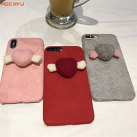 HOCAYU Hot Sell Stylish Design Cloth Glued Cell Phone Case With Fly Heart For IPhone 6