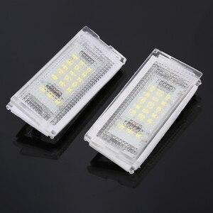Image 2 - 2 חתיכות Led לוחית רישוי אור Led Canbus אוטומטי זנב אור לבן LED נורות עבור BMW 3er E46 4D 1998 2003 אביזרי רכב