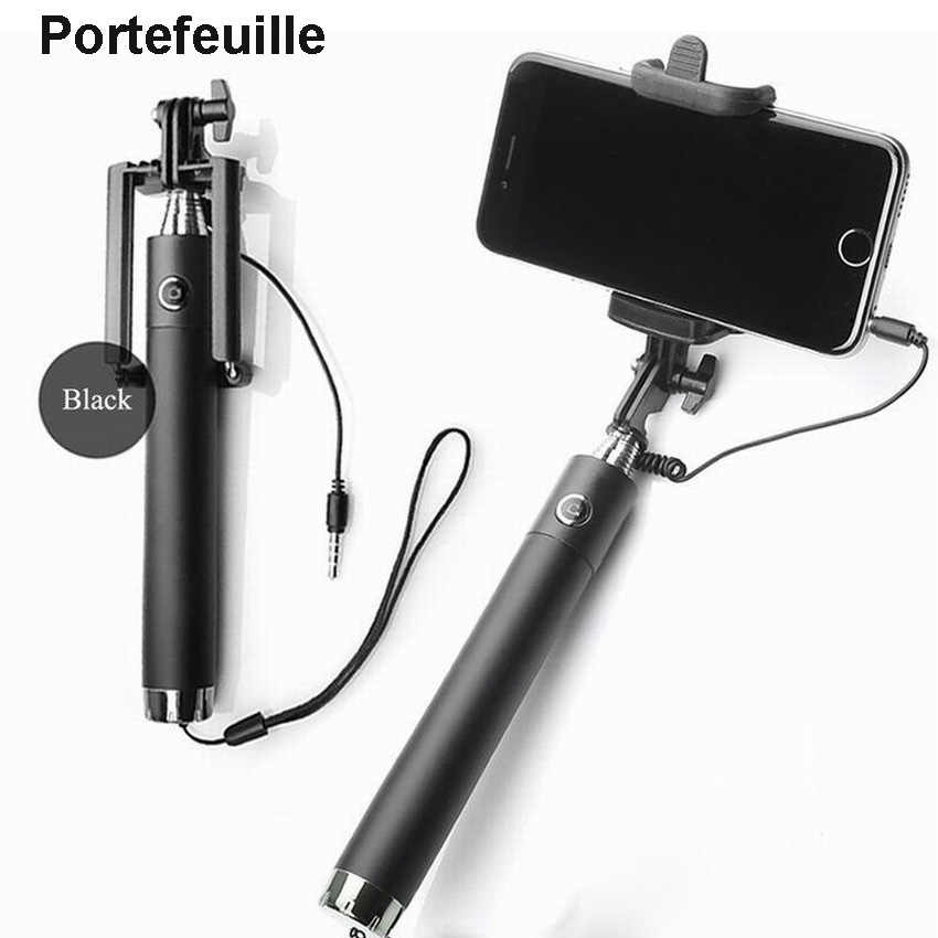 Portefeuille Selfie Handheld Extended Monopod UNIVERSAL Stand for iPhone 6 S 6s Plus SE Galaxy S7 S6 Edge S8 Mobile Stick Holder