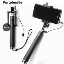 Portefeuille Selfie Handheld Extended Monopod UNIVERSAL Stand for iPhone 6 S 6s Plus SE Galaxy S7 S6 Edge S8 Mobile Stick Holder(China)