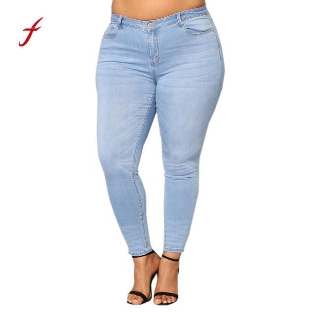 ... 791ea a4dc8 2018 Fashion Women Jeans Ripped Stretch Slim Denim Skinny  Jeans Pants high waist jeans ... 678abef240