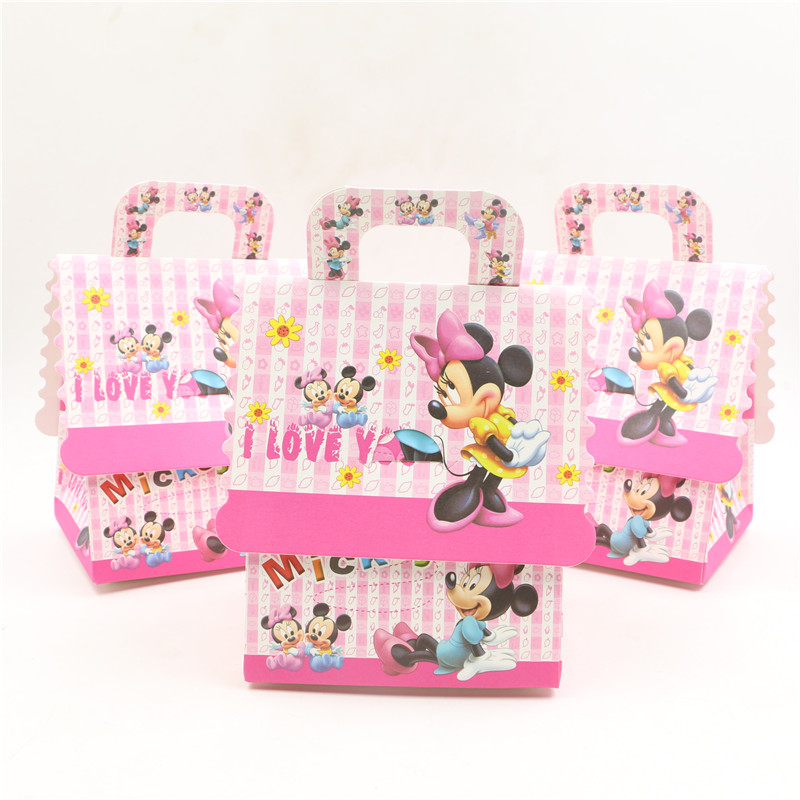 Minnie Mouse Baby Shower Party Favors: 10pcs Kids Favors Gifts Boxes Happy Birthday Party Baby