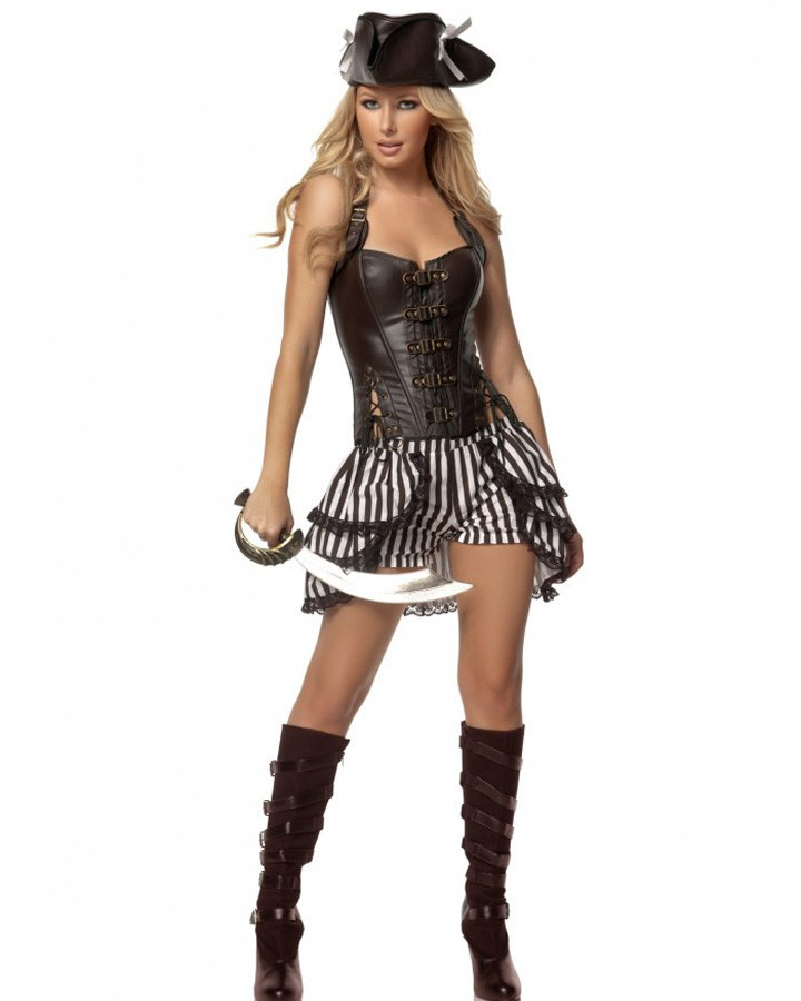 sexy women costume with free shipping deluxe steampunk pirate costume 3s1433 pirate halloween costumechina - Pirate Halloween Costumes Women