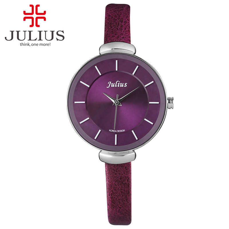 Top Julius Lady Woman Wrist Watch Elegant Simple Classic Fashion Hours Dress Bracelet Leather School Student Girl Gift JA-638 цена и фото