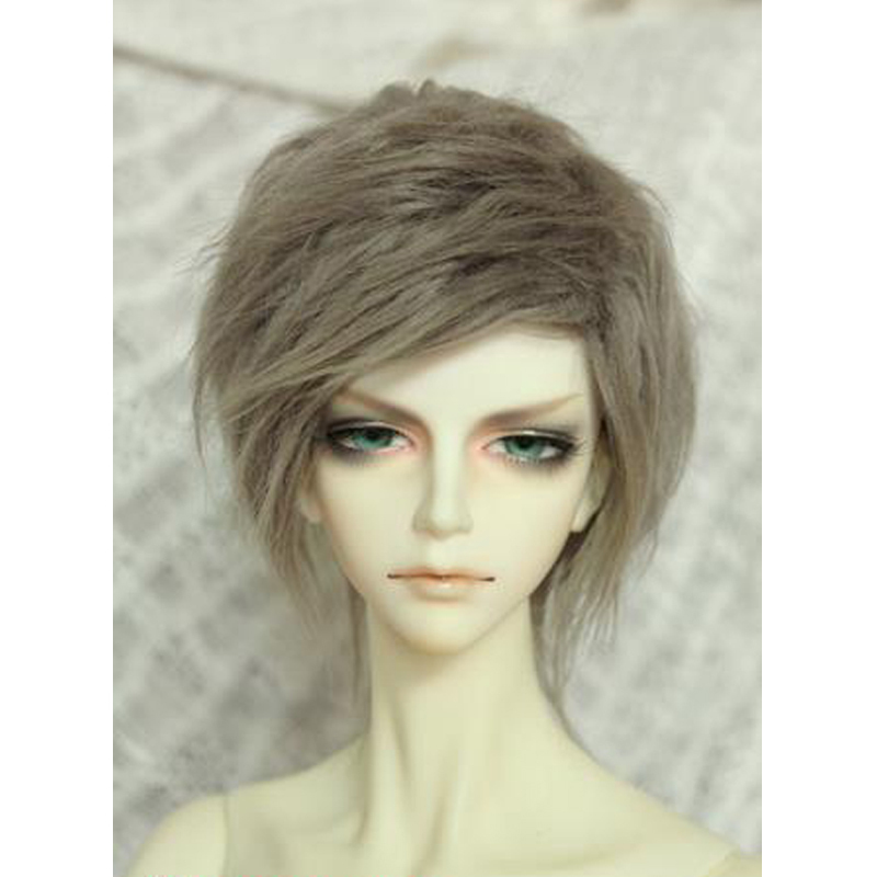 "Original [wamami] Hot Smoky-gray Short Wool Wig Hair Msd Dod Dz 1/4 Bjd Dollfie 7-8"" Moderate Price"