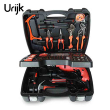 Urijk 138Pcs Home Impact Drill Multifunction Power Tools Three – Layer Household Drill Combination Hardware Tools Set
