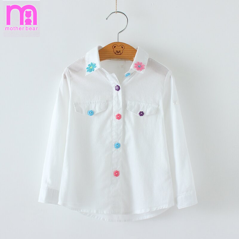 Aliexpress.com : Buy Summer Autumn Girls White Shirts Fashion ...