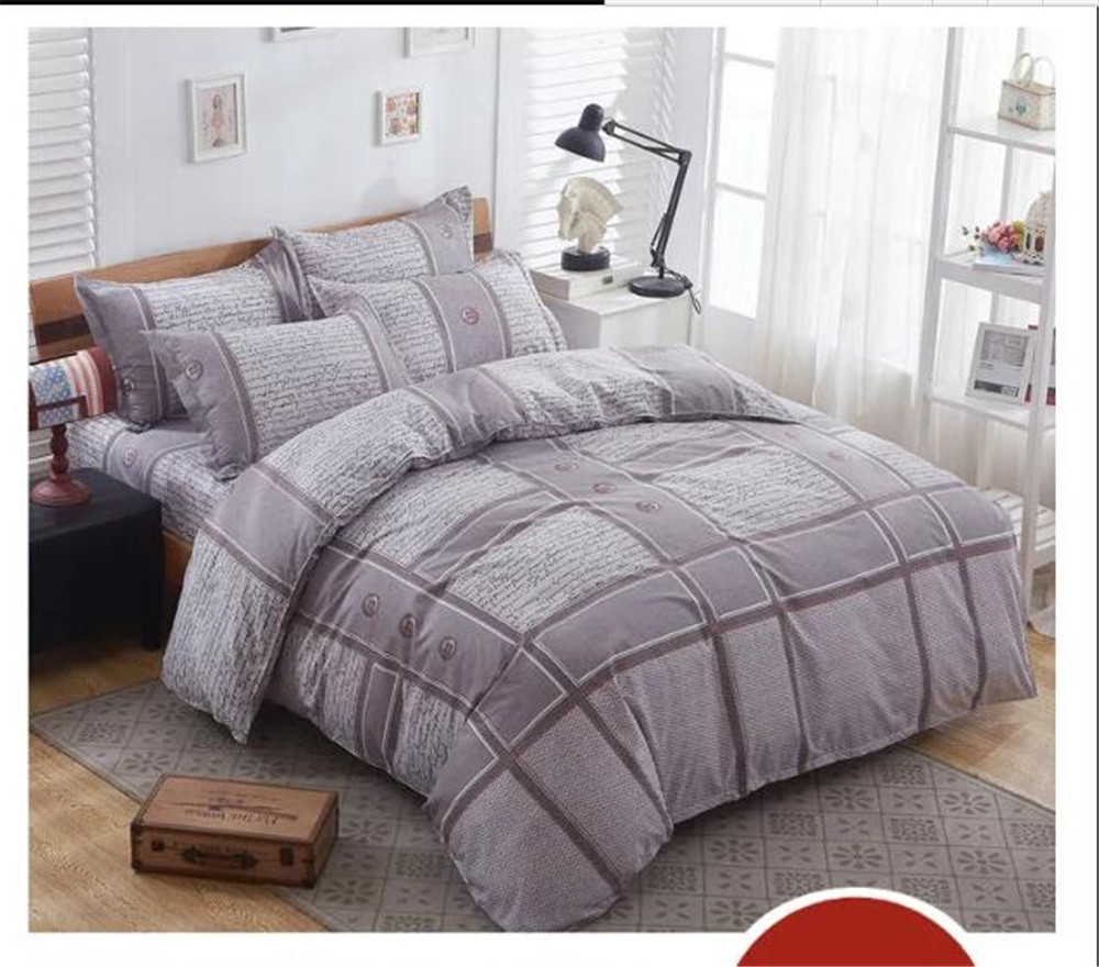 classic geometric bedding bed sets queen king twin kids 45 pcs grey plaid quilt