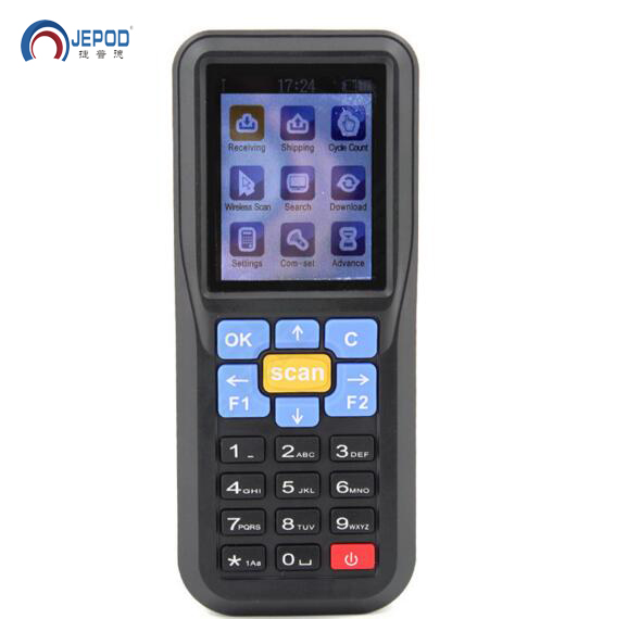 JP-D1 Free Shipping! Data Collector 1D wireless barcode scanner with storage data Inventory collector Terminal data collector original 1d laser barcode handheld scanner bluetooth android rugged mobile data terminal pda nfc 3g data collector 1 sim card 2d