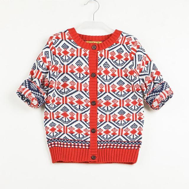 Nuevas muchachas del otoño cardigan 0-5Y niños niños top coat ropa niños abrigos niños bebé de Punto de Manga Larga chaqueta suéter de la muchacha suave RC5