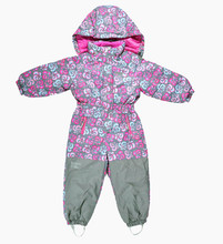 ФОТО warm children's outdoor clothing more cotton-padded clothes conjoined ski jacket and cotton with winter jumpsuits