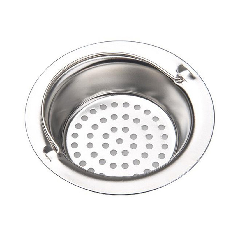 Exceptional Portable Kitchen Sink Strainer Filter Stainless Steel Drainer For Bathroom  11*2.8*7.8CM Home Design Ideas