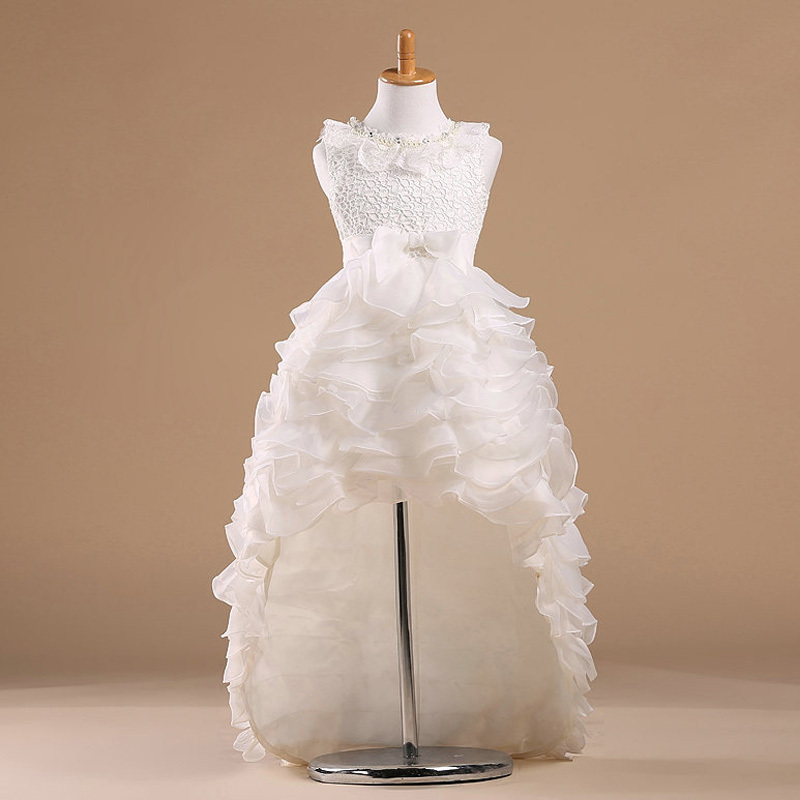 White Princess Children Flower Girl Dresses For Weddings ...