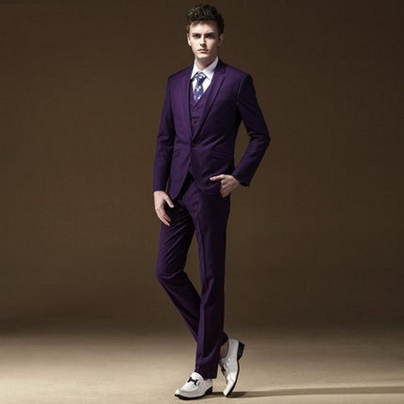 Aliexpress.com : Buy Handsome Purple Slim Fit One Button Groom