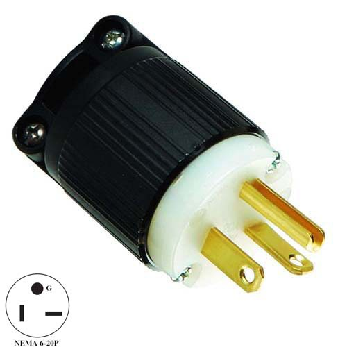 America Style Electrical Plug System 6 20r Male 220v 20a Supply Converter Durable Ccc Recognized Easy Firm Connection Usa