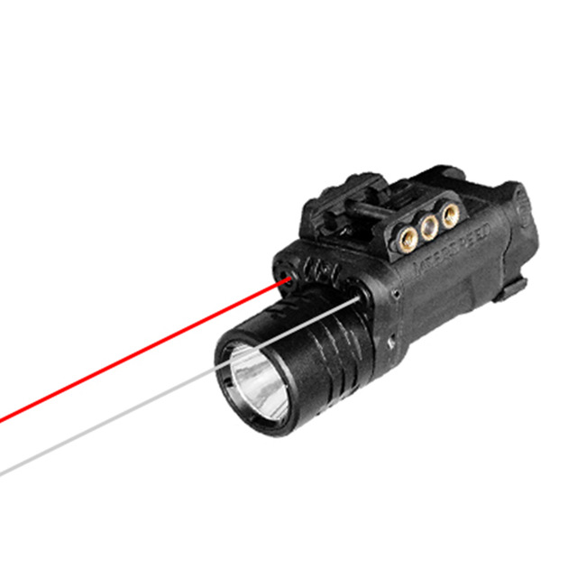 Acecare Drop Shipping Dual Aiming Red Laser And IR Infrared Laser Sight With Tactical Flashlight Combo