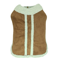 Cold Weather Large Dog Jacket Coat For Winter Autumn Warm Fleece Lining Buckskin Pet Clothes Big