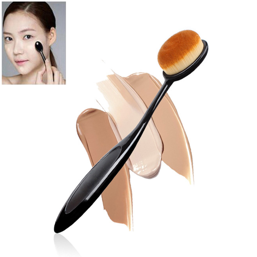 Soft Makeup Brushes Oval Cosmetic Makeup Toothbrush Pro Blush Face Powder Foundation Brush Makeup Tool(China)