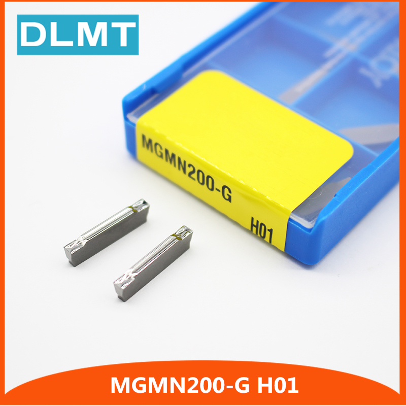 10x MGMN200-G LDA Carbide Inserts Lathe Turning Grooving Cutting Tool Insert Set