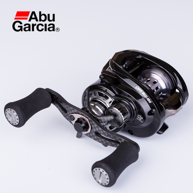 Abu Garcia REVO SLC-IB8 9+1BB 8.0:1 Drag 5.5kg Bait Casting Reel L/R Hand EVA Handle Anti-Corrosion Pesca Tackle Fishing Reels abu garcia pmax3 l left hand bait casting reel drum trolling fishing reel 7 1 bb 7 1 1 207g drag 8kg line 12lb 132m tackle tools