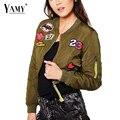23 stardust short autumn Bomber Jacket women 2016 new fashion long Sleeve stand Collar casual girls winter jacket plus size