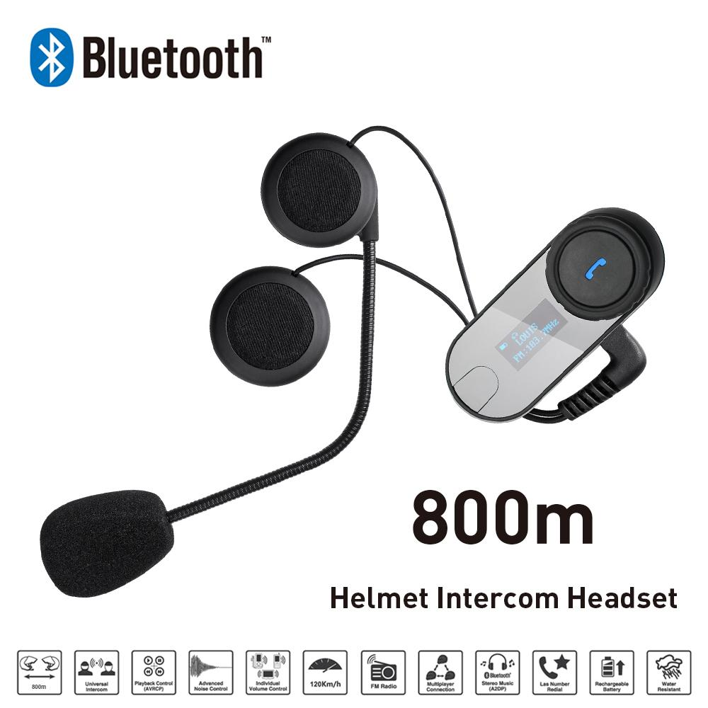 New 800M LCD Screen FM Bluetooth Motorcycle Snowmobile Helmet Intercom Headset For Phone font b GPS
