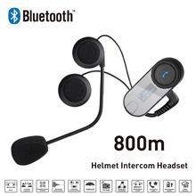 Nueva 800 M Pantalla LCD FM Bluetooth Intercomunicador Del Casco de la Motocicleta Moto de Nieve Para Phone/GPS/MP3 motocicleta intercomunicador
