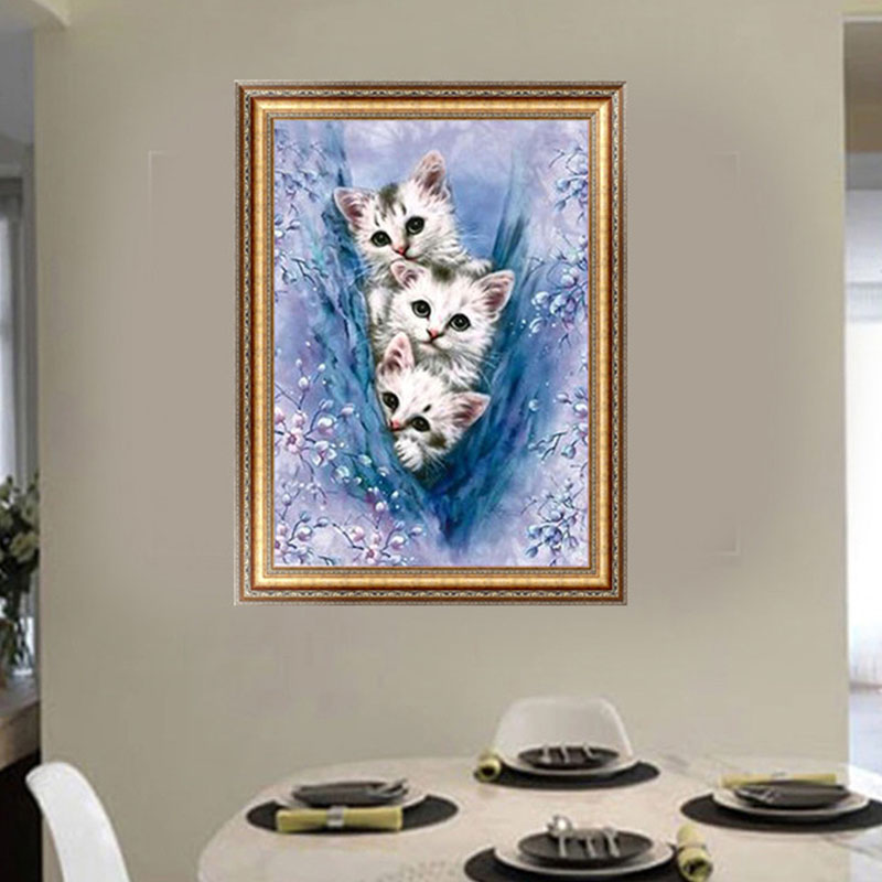 1PC DIY 5D Diamond Painting Decoracion Fantasy Cats Cross Stitch Elf On The Shelf Diamant Kit Diy