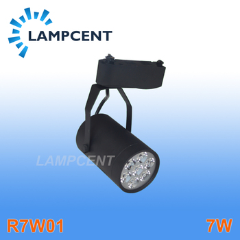 Free shipping LED track light 7W high lumen high quality two wires rail base commercial lighting spotlight
