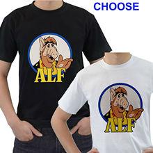 Ne Vintage ALF TV Show Retro 80's TV Mens Black White T-Shirt Size S to 3XL Comfortable t shirt Casual Short Sleeve Print tees c